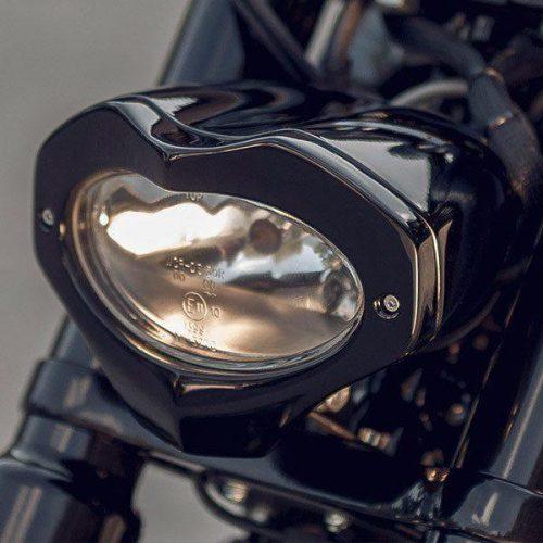"""Harley-Davidson Headlight Assembly V-rod """"Techno"""" DOT and E-Approved"""