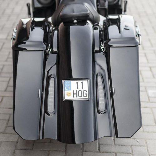 Harley-Davidson 7 Extended Bagger Rear Fender USA Registration Plate 09-13 Easy