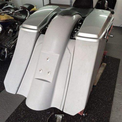 """Harley-Davidson 7"""" Extended Bagger Rear Fender German Registration Plate 09-13 """""""
