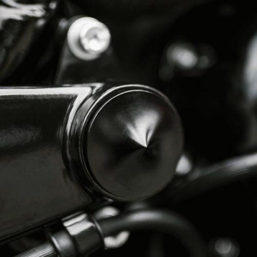 "Harley-Davidson V-Rod Swingarm Pivot Cover Kit Satin Anodized ""Spyker"""
