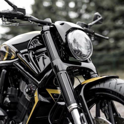 Harley-Davidson Black Anodized Fork Cover Kit for V-Rod Night Rod Special