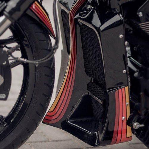 """Harley-Davidson V-Rod Radiator Cover 06-17 """"Indy"""""""