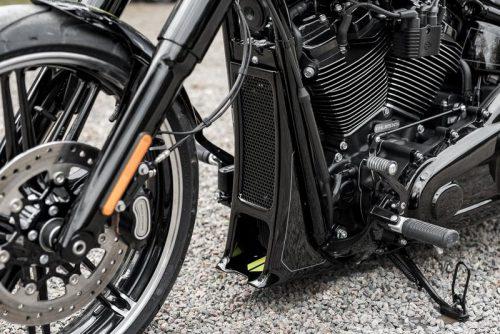 "Harley-Davidson ""Aggressor"" Series Softail Radiator Cover 18-19"