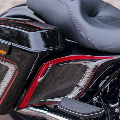 """Harley-Davidson Stretched Extended Side Covers 09-13 """"Wave"""""""