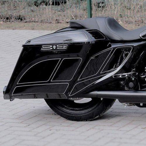 "Harley-Davidson Stretched Extended Side Covers 14-19 ""Gazelle"""