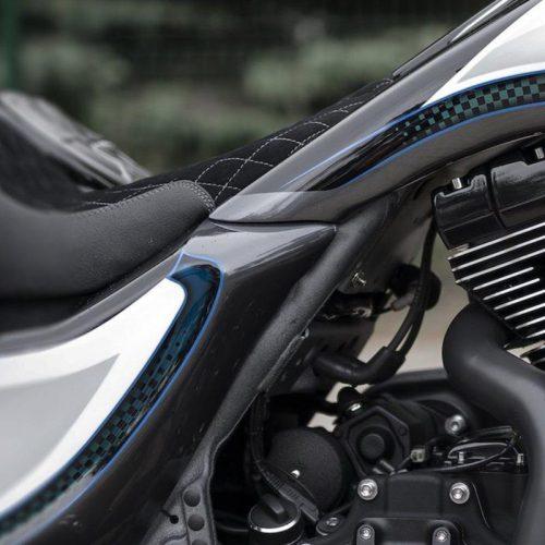 Harley-Davidson Extended Stretched Gas Tank & Side Cover Kit 09-13 FBI