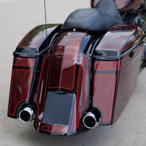 Harley-Davidson 3″ Stretch-Down Extended Bagger Saddlebags 14-19