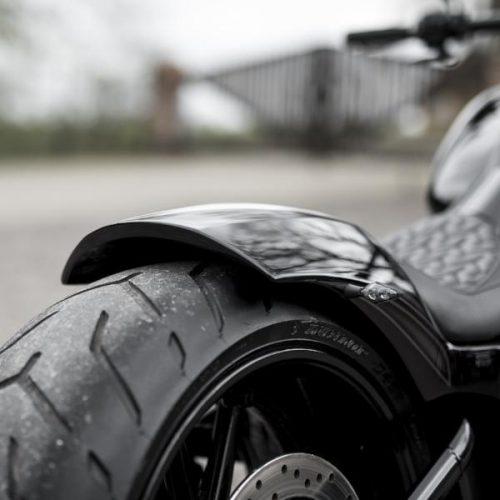 """Harley-Davidson Softail Solo Seat Rear Fender """"Fat Racer"""" 08-17 Breakout, Rocker"""