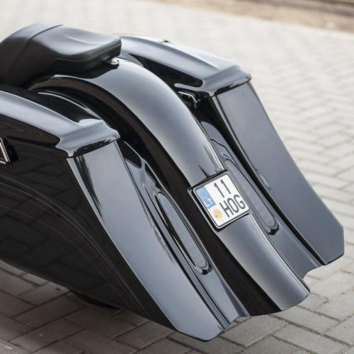 """Harley-Davidson 7″ Stretch and 5"""" Extended Down Bagger Saddlebags 96-13"""