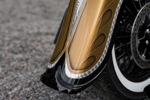 "Harley-Davidson 4"" Stretch Softail Rear Fender with Tip 00-17"