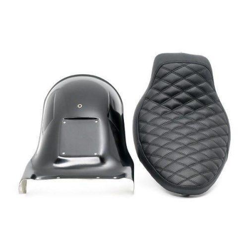 """H-D Short Bobber Softail Rear Fender and Seat Kit 07-11 """"Oldschool"""""""