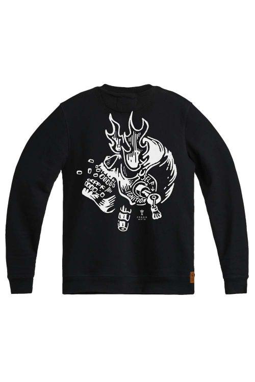 John Ignition – Regular Fit, Unisex Biker Sweatshirt