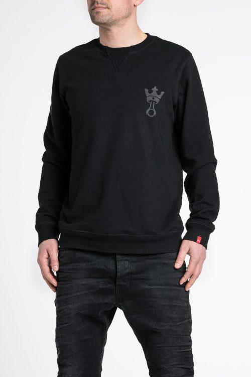 John 1 – Regular Fit, Unisex Biker Sweatshirt