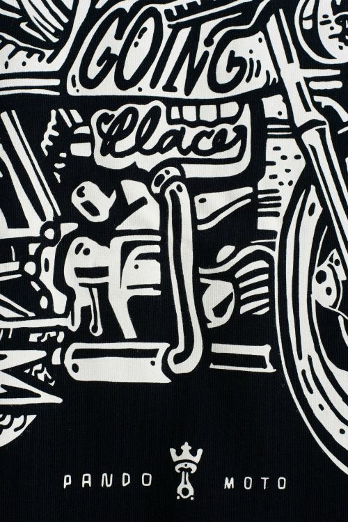 John 1 SS18 – Regular Fit, Unisex Biker Sweatshirt